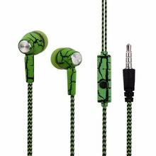 3.5mm Jack Earphone Crack Wired Headphone with Microphone Wired Control for iPhone Samsung htc xiaomi MP4 MP3 for ps4