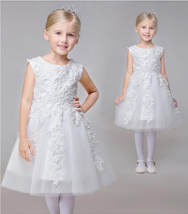 Lace Flower Girl Dresses White Real Party Pageant Communion Dress Little Girls Kids/Children Dress for Mother Daughter Dresses jeff buckley jeff buckley you i 2 lp