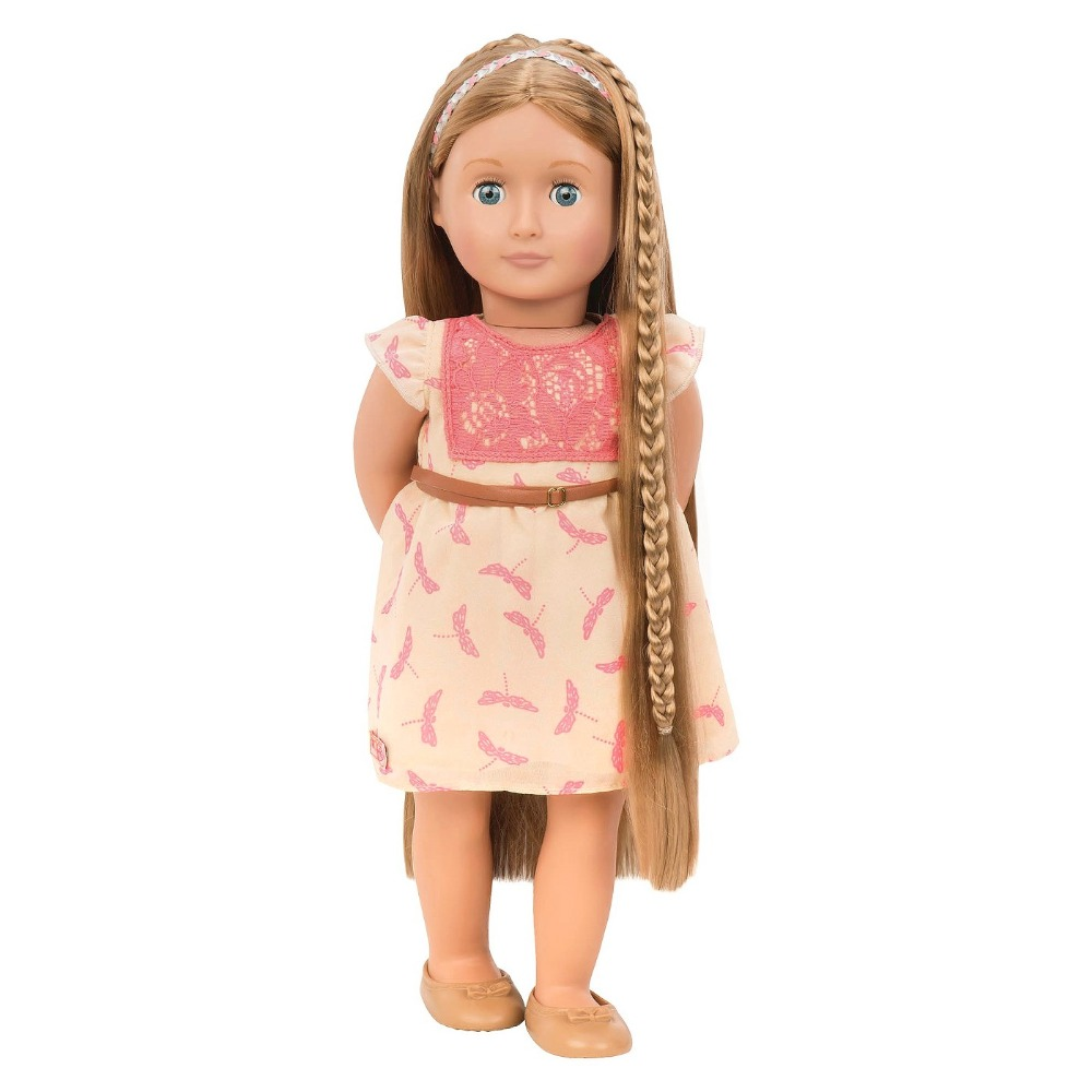 цена Fashion Hair Doll Portia 45cm Our Generation Doll With Extendable Hair