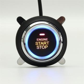 Auto Alarm Mobil Mesin Starline Push Button Start Stop Kunci Pengapian Switch Tanpa Kunci Masuk System dengan Remote Control Anti- pencurian