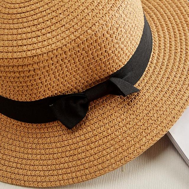 Sun hats Foldable womens sunhats Bow women's hat Summer flat eaves dome cap Headwear 3
