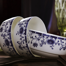 20 Chinese household ceramic red suit bone china tableware Jingdezhen porcelain tableware chrysanthemum round the dishes