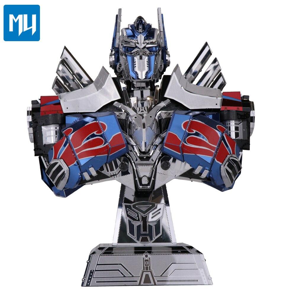 Nouveau véritable MU 3D puzzle Autobots leader buste couleur métal assemblage modèle scie sauteuse YM-L037 Collection cadeau jouets