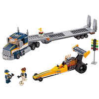 Dragster Transporter City Great Vehicles 60151 Building Blocks Bricks Car Model toys for Childrens kid gift