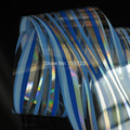 Transmembranar de transferência da folha Da Arte do prego adesivos de unhas adesivos Prata Céu Azul Onda GL108