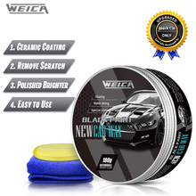Black Car Solid Wax Auto hard Wax Coating Paint Care Scratch Repair Carnauba Wax Polish for Black Car 180g Free Shipping car coating wax for light colored vehicles 300 g