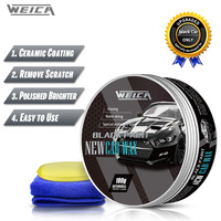 Black Car Solid Wax Auto hard Wax Coating Paint Care Scratch Repair Carnauba Wax Polish for Black Car 180g Free Shipping