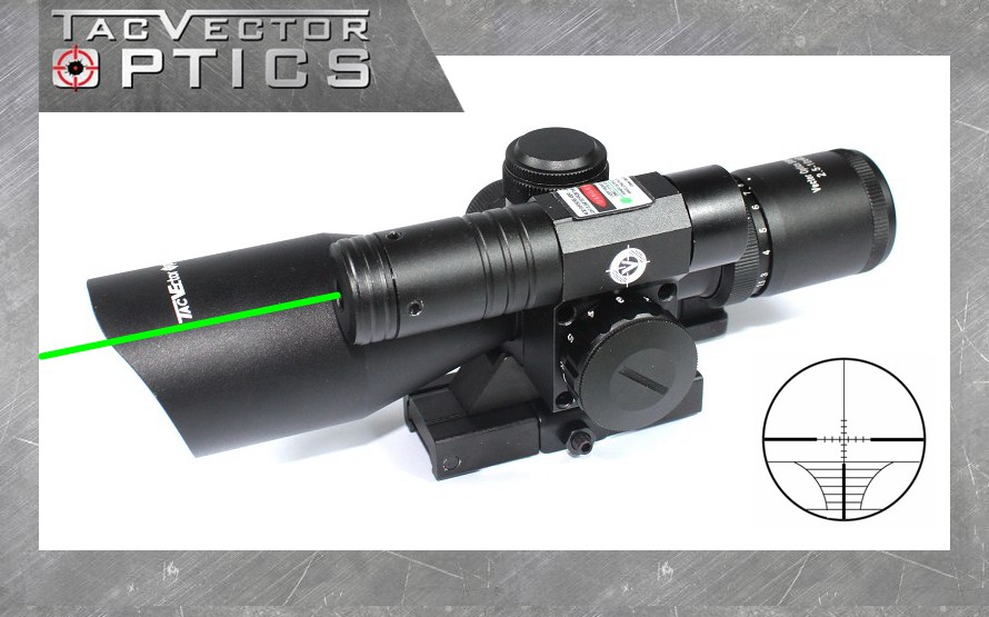 Vector Optics Sideswipe 2.5-10x40 E Compact Green Laser Gun Rifle Scope with Quick Release 20mm Weaver Mount Base accu new quick release heighten mount for 20mm rifle weaver rails black
