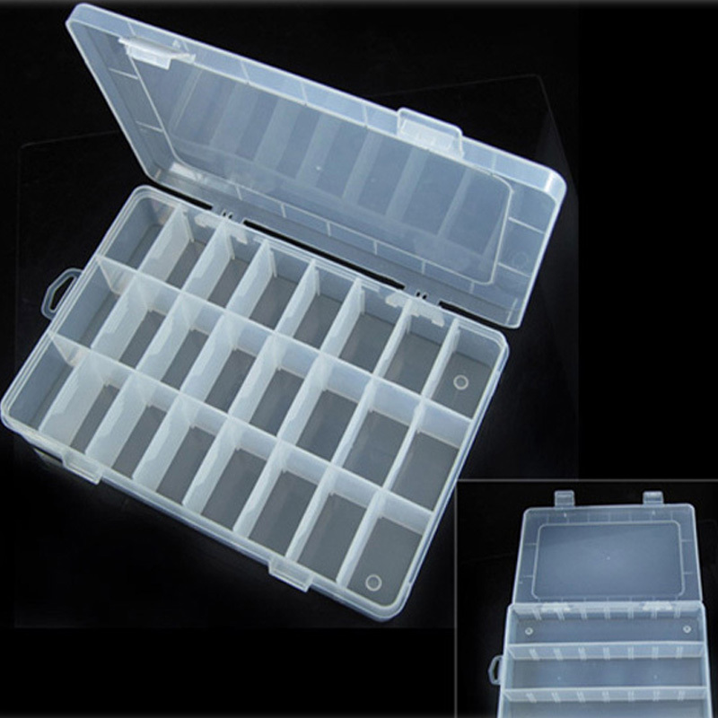 Boutique jewelry storage Adjustable Plastic 24 Compartment Storage Box Jewelry Earring Bin Case Container Storage Boxes-in Storage Boxes u0026 Bins from Home ... : jewelry storage box  - Aquiesqueretaro.Com