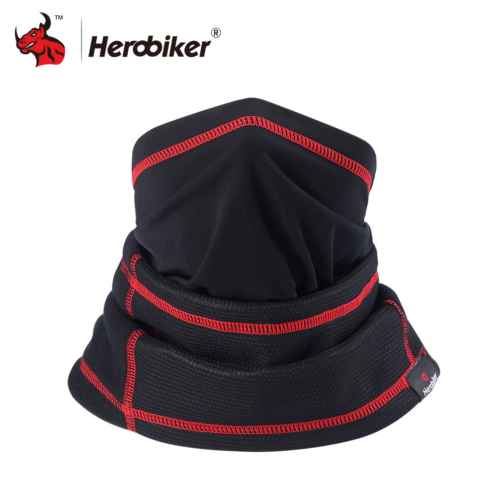 HEROBIKER Motorcycle Face Mask Winter Thermal Fleece Balaclava Hat Hood Bike Wind Stopper Face Mask Neck Warmer Winter Fleece new winter warm scarf hat mens thermal fleece hood ski bike hiking unisex winter windproof face mask beanie caps mens