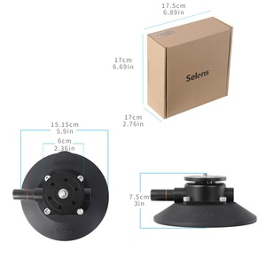 Image 5 - Selens 5,9 Zoll Power Grip Vakuum Saugnapf Kamera Mount System für DSLR Kamera Video Smart Telefon Gopro