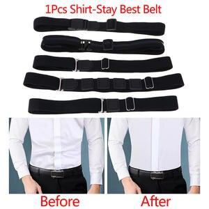 Belt Shirt-Holder Straps Easy-Shirt Near Adjustable Stay for Non-Slip Wrinkle-Proof