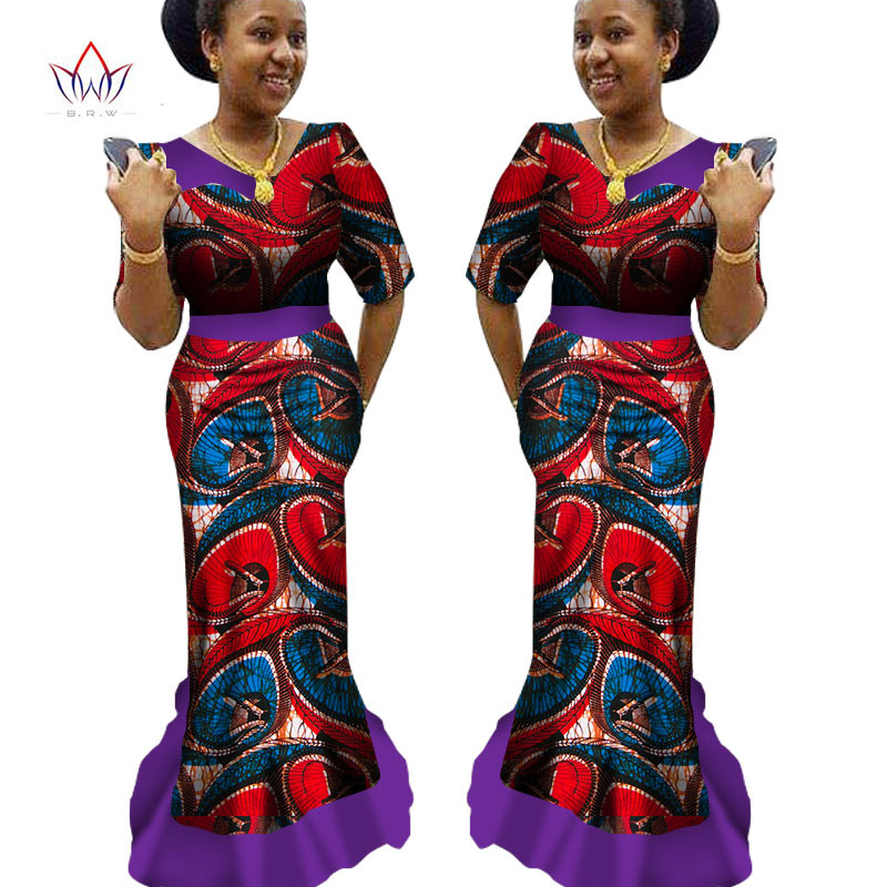 African Print Dress Dashiki Women 2 Pieces Set Original Cape ...