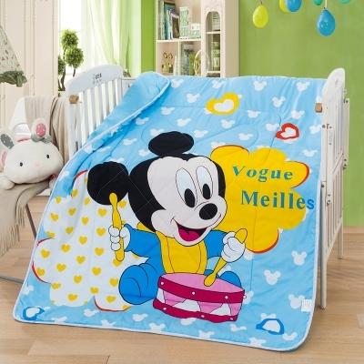 Promoção! Mickey Cobertor Do Bebê Do Algodão Crianças/Crianças da menina Macia Coral Quilt/edredon Bebê, 150*120 cm