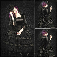 R 100 Victorian Gothic/Civil War Southern Belle loose Ball Gown Dress Halloween Vintage dresses Custom made