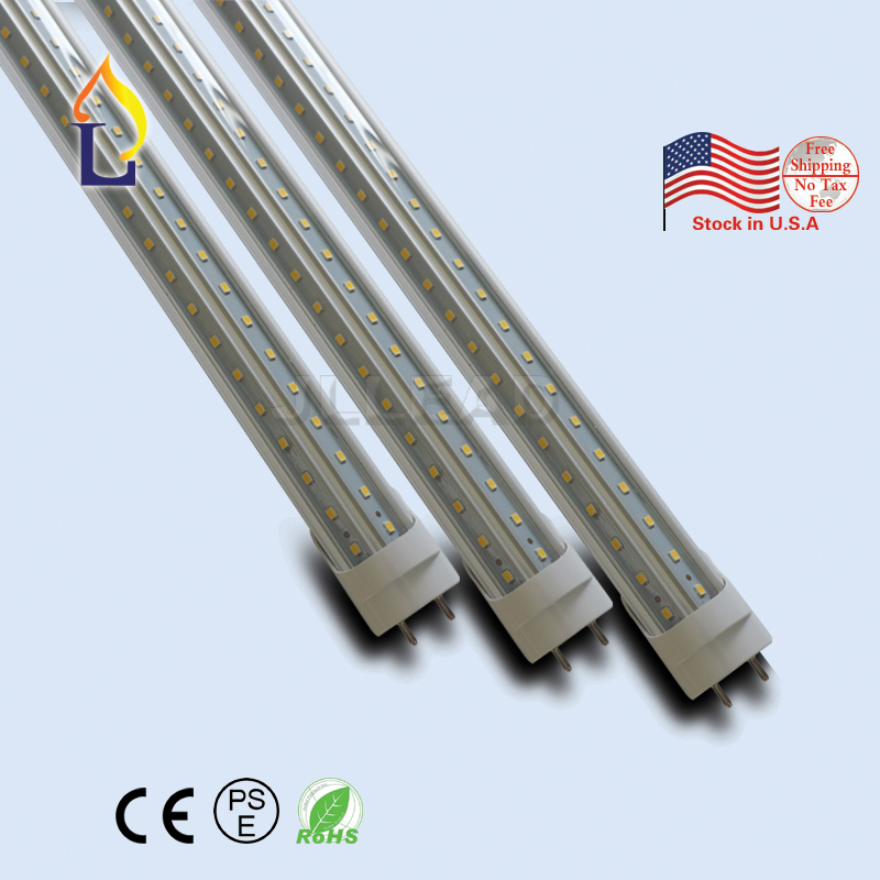 15 Pack 4ft 5ft 6ft 8ft 24W 48W Led Tube Light V Shape ETL