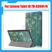 New Luxury Painted Pu Leather Case Smart Cover For Lenovo Tab 4 TAB4 10 TB X304F