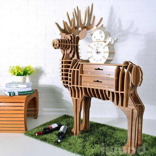 Tables personalized creative designer furniture racks animal animal elk living room coffee table / floor Hallway