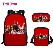 Thikin Ferdinand 3Pcs/set Book Bags Children School Bag for Boys Backpack Teen Girls Kids