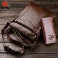 Новый Для мужчин мужские сумки Деловые Сумки Плеча Сумку Вертикальном разрезе Мужчин кроссбоди мешок