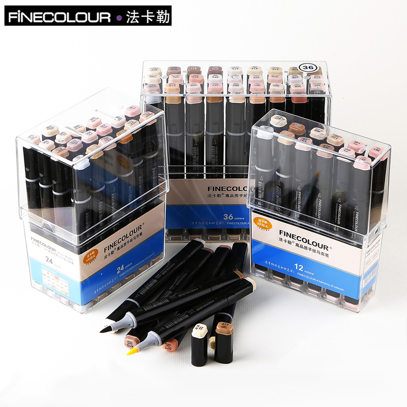 Marcadores da Arte ef102 marcadores finecolour escova pele Quantidade de Pacotes : 12 24 36