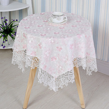 Modern Water soluble Lace Tablecloth Square Coffee Table Refrigerator Bedside Cover Cloth Dust Tapete Towel Christmas Wedding