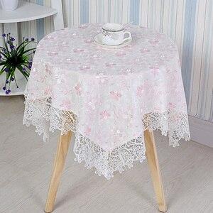 Image 1 - Moderne Wasser löslich Spitze Tischdecke Quadrat Kaffee Tisch Kühlschrank Nacht Abdeckung Tuch Staub Tapete Handtuch Weihnachten Hochzeit