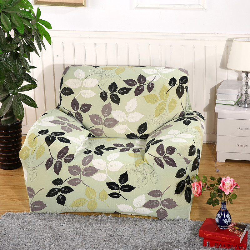 Modern Leaves Chaise Sofa Cover Big Elasticity Flexible Couch Cover  Loveseat Sofa Funiture Cover Machine Washable