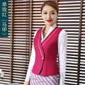 The New Airlines Flight Attendant Uniforms Ladie's Vest with Skirt/Trousers Hotel Uniforms Beauty Vest Work Clothes