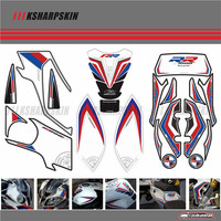 Motorcycle Front Rear Fairing Motor Number Board 3D Gel Protector Tank Knee Section Paint pad for BMW 2012 2014 S1000RR S1000RR