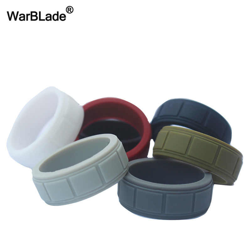 100% FDA Food Grade Silicone Ring Men Outdoor Sport Hypoallergenic Crossfit Flexible Rubber Finger Rings For Men Wedding Rings