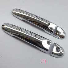 Free Shipping For Nissan Juke 2010-2015 ABS chrome Door Handle Cover straps car accessories 4pcs