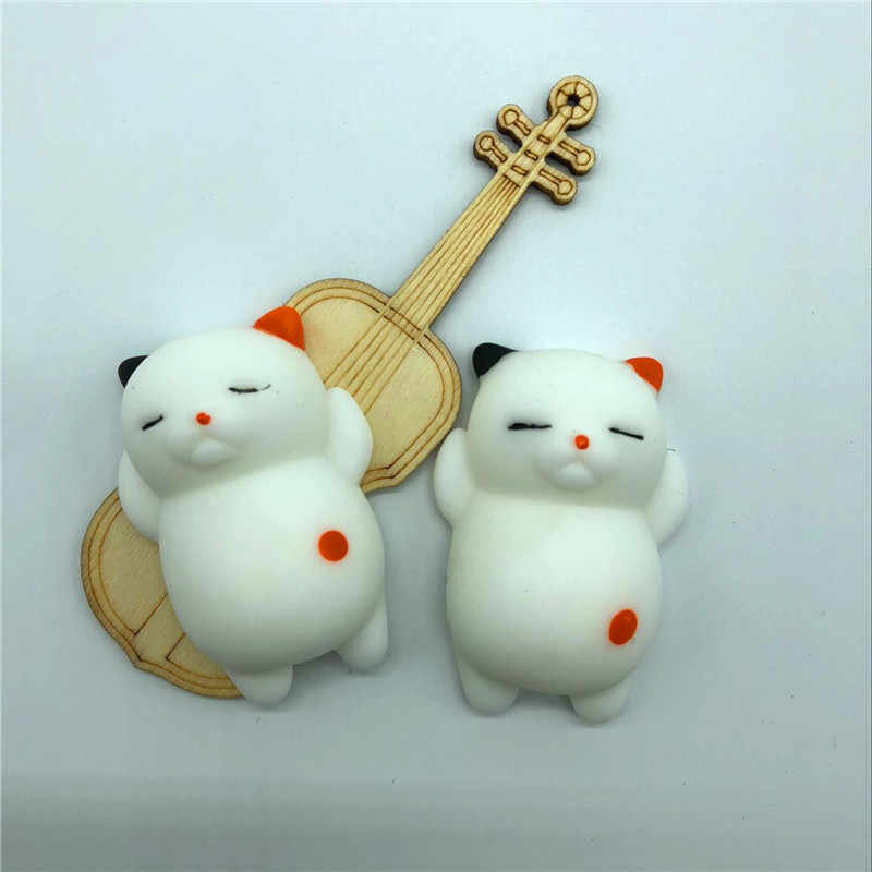 Mini Change Color Cute Cat Stop Stress Ball Squeeze Rising Abract Soft Sticky Stress Relief Funny Gift Toy