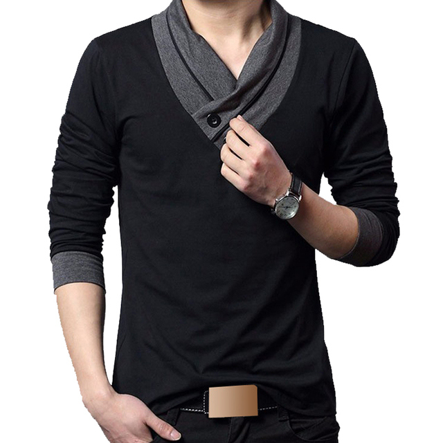 Aliexpress.com : Buy New Fashion T shirt Men T Shirts men's Long ...