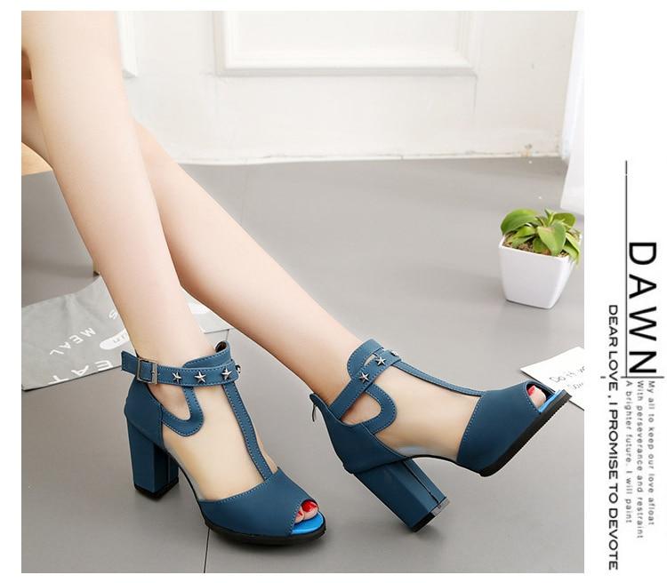 HTB1s.3Ffr1YBuNjSszhq6AUsFXad Women sandals 2019 fashion summer shoes women high heels hollow mesh sexy sandals size 35 - 43 mujer sandalias