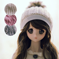Big Girl Single Ball Woolen Hat For BJD Doll 1/4,1/3,Uncle MSD LUTS DOD AS Doll Hat CP10