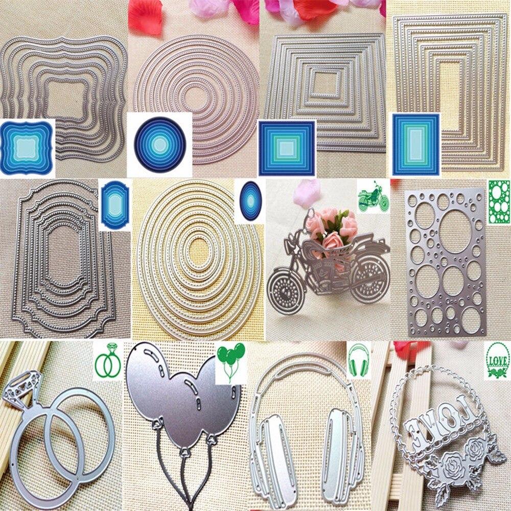 New Design Craft Metal Cutting Dies cut die long lace mesh decoration Scrapbooki