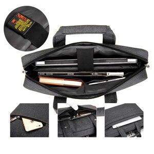 Image 5 - Sacoche Portable de luxe à épaule épaisse pour hommes et femmes, sacoche, étanche, antichoc, Air pochette dordinateur 17.3 15 14 15.6