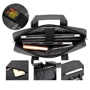 """Image 5 - Wodoodporna, odporna na wstrząsy powietrza torba na laptopa 17.3 15.6 15 14 13.3 13 """"luksus gruby przenośne torba na ramię kobiety mężczyźni Notebook torba"""