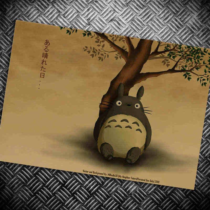 Japanese Cartoon Vintage movie Prints poster retro painting wall picture sticker HD living room wallpaper decor.jpg q50