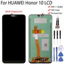 """מקורי עבור Huawei Honor 10 Col L29 LCD תצוגת מסך מגע 5.8 """"עם טביעת אצבע Digitizer עצרת עבור HUAWEI Honor10 LCD"""