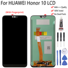 "Original Für Huawei Honor 10 Col L29 LCD Display Touch Screen 5.8 ""Mit Fingerprint Digitizer Montage Für HUAWEI Honor10 LCD"
