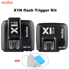 лучшая цена GODOX X1N Flash trigger kit 2.4GHz 1/8000s Wireless E-TTL Transmitter and Receiver Flash Trigger for Nikon Transmitter Receiver