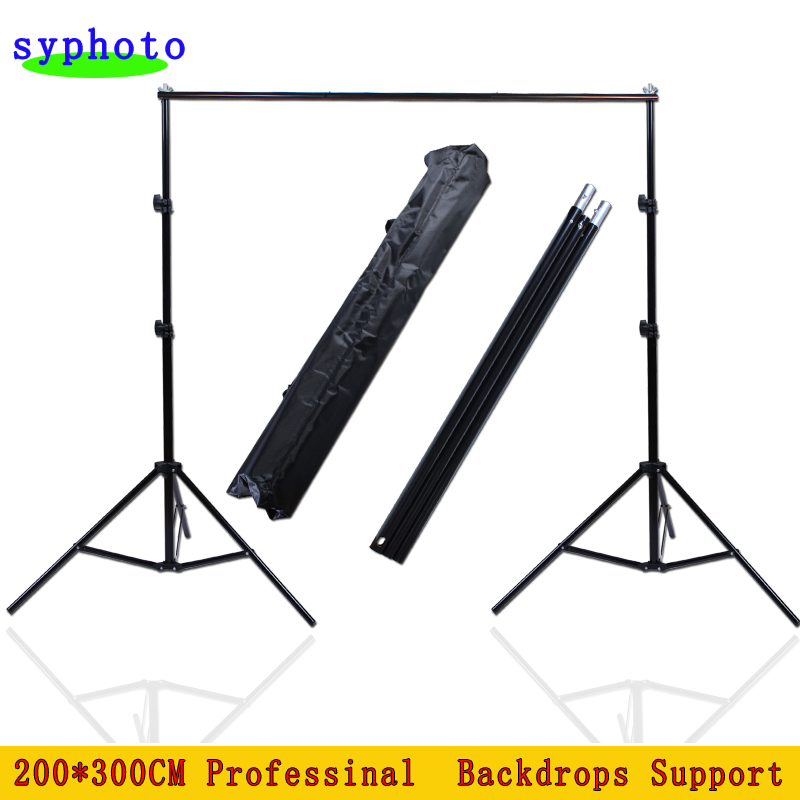 Free Tax to Russia 200*300CM Professinal photography background Backdrops Support System Stands studio with carry bag 300cm 300cm vinyl custom photography backdrops prop digital photo studio background s 5641