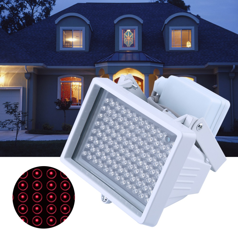 96 PCS LED Light Night Vision Infrared Light IR Lamp Universal Lamp For CCTV Camera Home Yard Garden Security Lamp DC 12V 2A