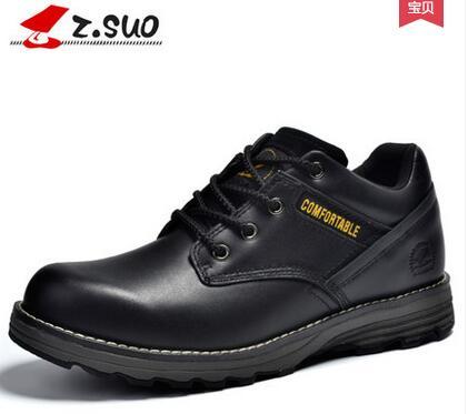 2017 Zsuo mannelijke toevallige tooling schoenen, mannen lage lente outdoor ronde teen schoenen, gratis verzending-in Casual schoenen voor Mannen van Schoenen op  Groep 1