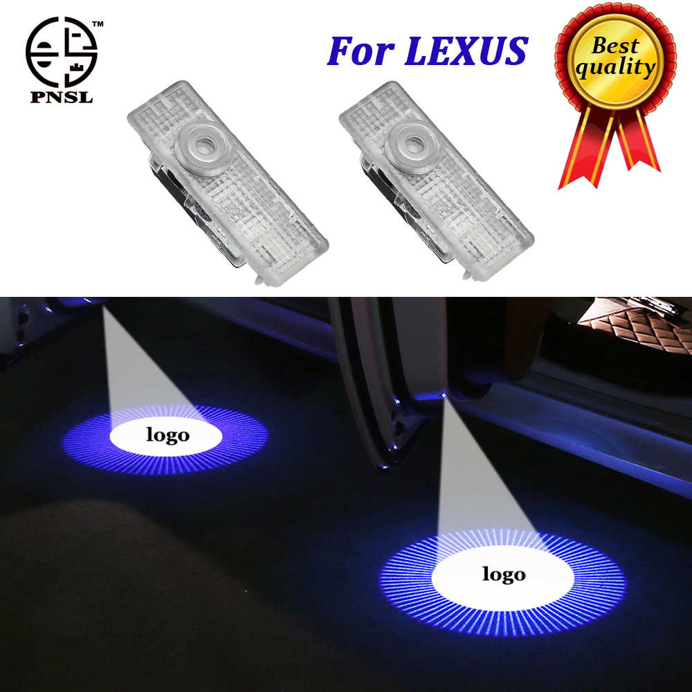PNSL for LEXUS welcome Car Door light puddle CIRCLE Shadow LED Courtesy  Lights  Back light Car Styling Welcome lamp