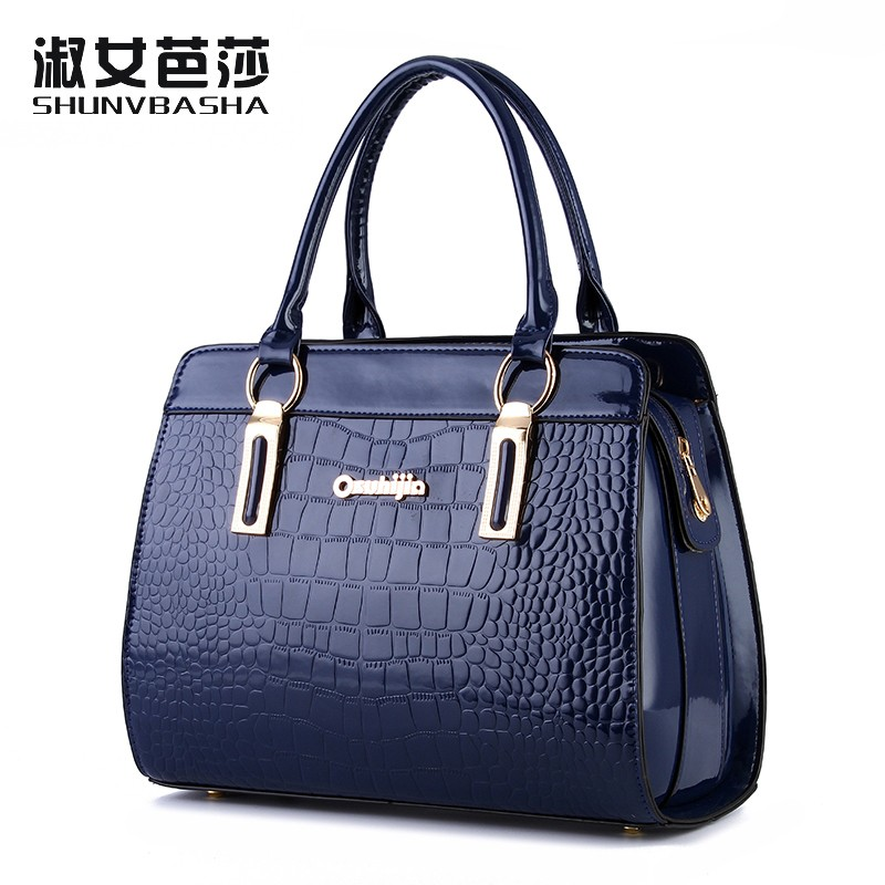 SNBS 100% Genuine leather Women handbags 2017 New high-end European and American