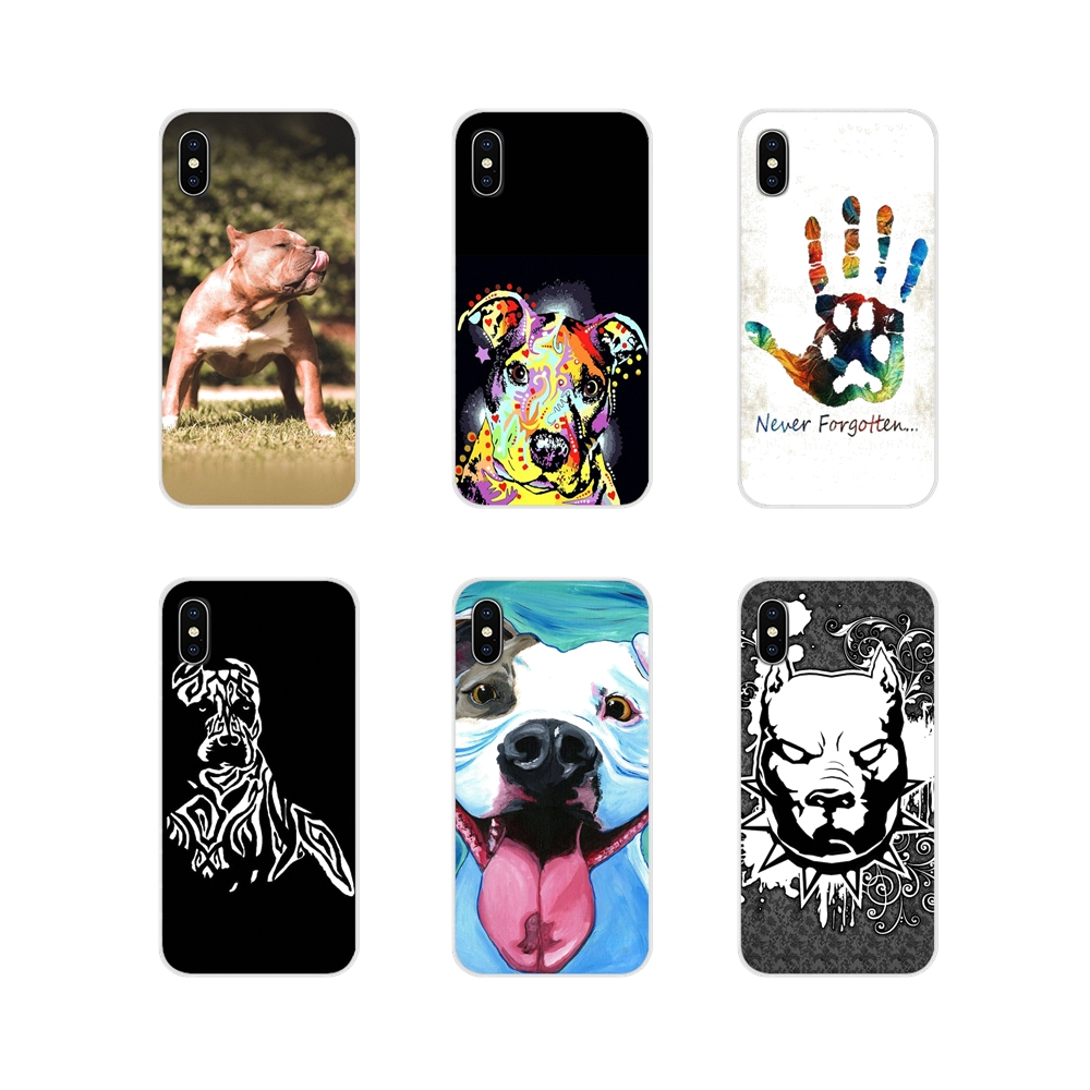 TPU Shell <font><b>Case</b></font> For <font><b>Huawei</b></font> P8 9 Lite Nova 2i 3i <font><b>GR3</b></font> Y6 Pro Y7 Y8 Y9 Prime <font><b>2017</b></font> 2018 2019 Pastel Puppy Pitbull Dogs Pattern Animal image