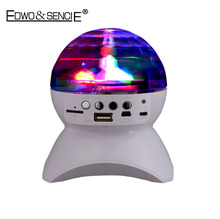EDWO T320 Portable Crystal Magic Ball Led Light Wireless Bluetooth Speaker DJ Disco Party Handsfree Bass Music Player FM TF Card